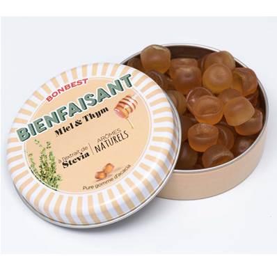 Gommes d'acacia à la Stévia Miel & Thym 35 g - Bonbest